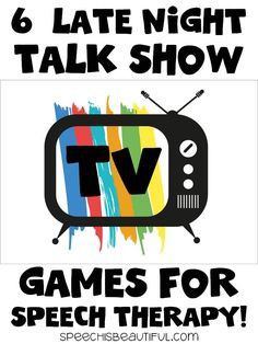 6 Late Night Talk Show Games for Use in Speech Therapy! Do you struggle to keep the interest of older elementary and middle school kids during speech therapy? These Late Night TV Talk Show Games are easily modified for speech therapy to increase engagement and participation. speechisbeautiful.com