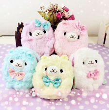 Kawaii Arpakasso Alpacasso Purse Bag 14cm Cute Pastel Alpaca Llama Fuwa Pouch