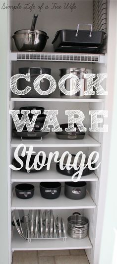I am so lucky that our house has two pantries!  One for food and a smaller one that I use to store all of my cookware (you can see how I ...