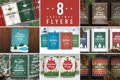 8 Christmas Flyers Bundle - Flyers