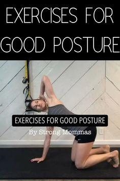 Better Posture Exercises, Posture Correction Exercises, Neck Exercises, Lower Back Exercises Strengthen, Upper Back Strengthening Exercises, Kyphosis Exercises, Lower Back Pain Stretches, Posture Stretches, Good Posture