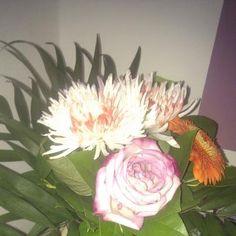 Blumen von meinem Sohn zu seinem 18. :-) Wie süß :-)