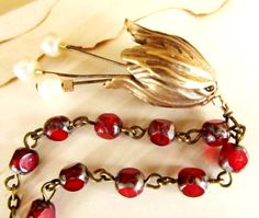 Valentine Red Necklace Vintage Inspired by 4TasteofShabbyChic, $45.00