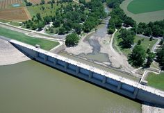 Fall River Dam, Greenwood County. U.S. Army Corps of Engineers. Source: Great Plains Aerial Photography.