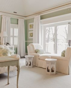 bedroom sitting area | Brookes and Hill Custom Builders