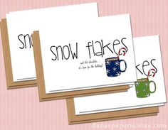 Set of 6 Happy Holidays Card  Cute holiday cards by danaspaperie