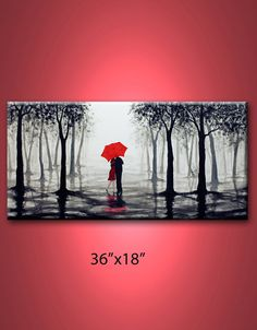 this acrylic painting was hand painted on 36x18and 3/4 inch thick high quality gallery wrapped canvas, edges are staple free and painted black, no need