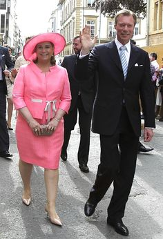 Grand Duchess Maria Teresa and Grand Duke Henri at the celebration for the Octave of Our Lady of Luxembourg
