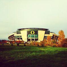 Autzen Stadium - Eugene, Oregon. Home of the Ducks.