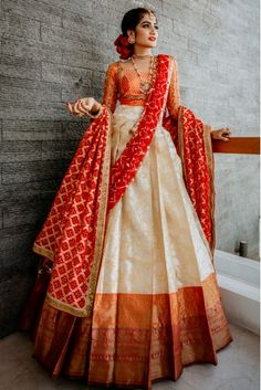 Indian Fashion Dresses, Indian Bridal Outfits, Indian Gowns Dresses, Indian Bridal Fashion, Dress Indian Style, Indian Designer Outfits, Lehenga Designs Simple, Half Saree Designs, Choli Designs