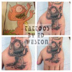 Variety of tattoos by Ed Weston.