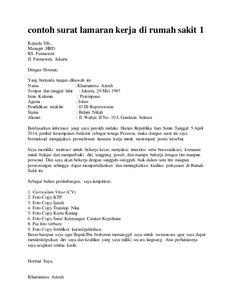 Surat Lamaran Kerja Rumah Sakit Yang Benar - ben jobs