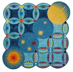 I Promise you the Moon, the Stars, and the Sun ~ based on elements by Quiltworx.com, designed by Jennifer Eubank.    Here's another fun and ...