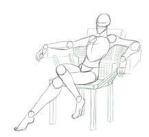 DeviantArt: More Artists Like Sit like a boss by LordNummy Body Sketches, Anatomy Sketches, Anatomy Drawing, Anatomy Art, Drawing Body Poses, Body Reference Drawing, Drawing Reference Poses, Posture Drawing, Pencil Art Drawings