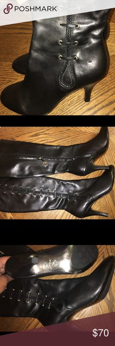 Knee high boots New, knee high boots 2 1/2-3 in heel. Never worn, no damages. Great price. Isola Shoes Heeled Boots