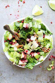 Cranberry Apple Salad | www.floatingkitchen.net Best Salad Recipes, Real Food Recipes, Vegetarian Recipes, Cooking Recipes, Healthy Recipes, Vegetarian Salad, Delicious Recipes, Healthy Salads, Healthy Eating