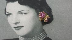 Dainty Small Vintage Pink Rhinestone Flower Star Gold Clip On