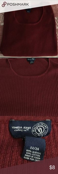Burgundy Petite Tunic Burgundy Petite Tunic, Venezia Jeans, Size 22/24, Excellent condition. Venezia Tops Tunics