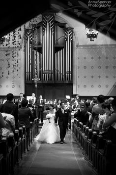Wedding ceremony at Central Presbyterian Church in Downtown Atlanta