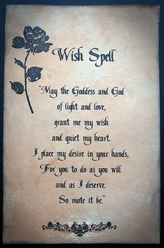 I love witches and spells
