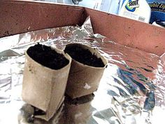 Since the repin that I made for Toilet Paper Seed Starter Pots didn't contain a working link, I'm pinning this one.  This site has a good photo tutorial.