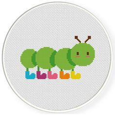 FREE for September 12th 2016 Only - Caterpillar Boots Cross Stitch Pattern
