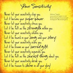 your sensitivity