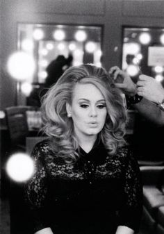 Adele- her hair is gorgeous here.