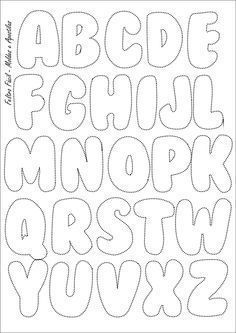 Feltro Fácil: Molde do Alfabeto   Felt Letters Template: