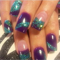 Instagram photo of acrylic nails by Lora