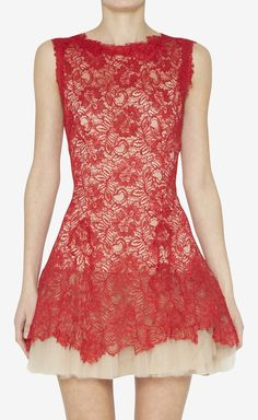 Red Lace Dress = super cute