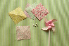 I made hundred of these as a kid. It's time to teach my daughter how to make them, too. #Paper #Crafts #Pinwheels