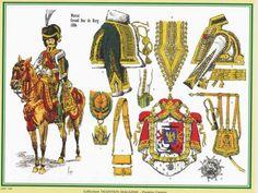Pattern for Murat, Grand Duc de Berg uniform. Lead Soldiers, Toy Soldiers, Military Weapons, Military Art, Empire, Kingdom Of Naples, Grand Duc, Etat Major, German Uniforms