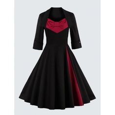 Plus Size Vintage Bowknot Skater Dress - could the sizing be any more confusing