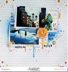 *Imagicallery* Layout von Monika für die #scrapbookwerkstatt #sbw #wroclaw #breslau #mixedmedia