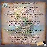 letter from heaven | Missing loved ones | Pinterest