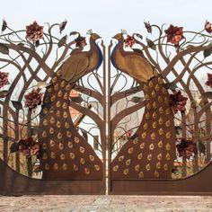 16 Awesome Gate Style That You Would Like to Copy Iron Garden Gates, Backyard Garden Design, Gate Design, Rooster, Awesome, Animals, Style, Swag, Animales