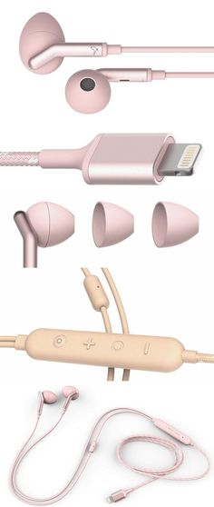 "No headphone jack? No problem. The new Libratone Q Adapt In-Ear earbuds plug into the Lightning port on Apple iPads and iPhones--including the headphone-jack-free iPhone 7 and 7S. This method provides power for its true active noise-cancellation circuitry, which adjusts to five different levels depending on how much ambient noise users want to hear. The $179 /libratone/ Q Adapt earbuds have fabric-covered cords and come in white, black, pink and *ahem* ""nude."" #iPhone7"
