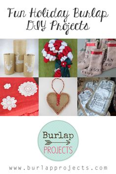 The Holiday season is right around the corner...so here is a collection of Fun Holiday Burlap DIY Projects to get those creative juices flowing! Be Inspired