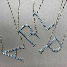 Anthropologie monogram pendant necklace room for more turquoise beaded large sideways initial necklace aloadofball Choice Image