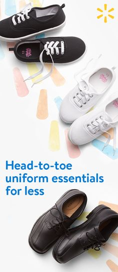 Complete their back to school uniform with affordable footwear from Walmart. From casual to formal, we have shoes for any dress code.