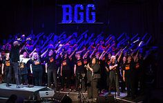 Large Light Up Letters for Corporate Celebrations. Brighton Goes Gospel's concert at Roedean School