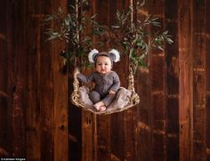 Melbourne newborn and baby photographer Kathleen Vergara captured this adorable photograph...