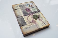 Open Spin Journal 03 Handmade Journal Travel by AnotherPageBindery