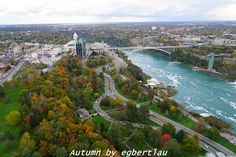 Niagara Falls in Autumn.