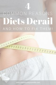 4 Common Reasons Diets Derail…And How To Get Back On Track #medifast #sponsored #diets #dieting