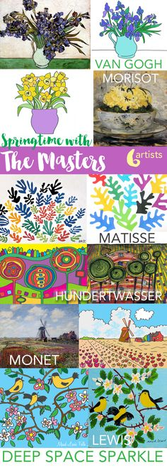 Springtime with the Masters Art lessons plus a free Hundertwasser handout