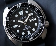 "Seiko Prospex SRP777 Dive Watch Review - by James Stacey - See the latest evolution of the 6309 from Seiko at: aBlogtoWatch.com - ""Every now and then a new watch manages to vibrate at just the right frequency to perk the ears of the general watch enthusiast base. Rustling the fault line of watch enthusiasm takes a special watch, one that offers a hard-to-quantify mix of design, function, price, history, and the secret-sauce of enthusiast appeal. With an accessible price point..."""