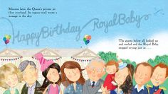 A right royal family party: The Middletons and senior royals gather to mark Prince George's birthday in one of the books in the series, Happy Birthday, Royal Baby!