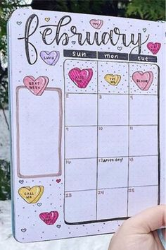 Want to add some decoration to your bujo pages or even change your entire theme for the month!? Check out these super cute heart themed bullet journal layouts and ideas for inspiration #bujo #bulletjournal #bujoideas #bujotheme